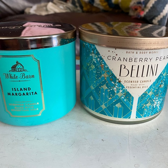 Two 3 wick Bath and Body Works candles